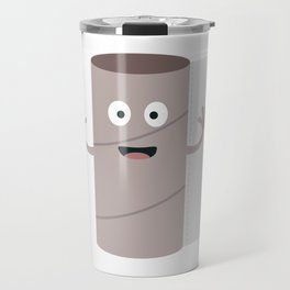 Empty Toilet paper roll with face Travel Mug