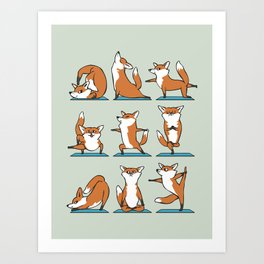 Fox Yoga Art Print