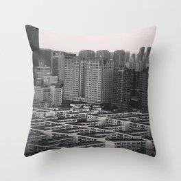 Concrete Jungle #4 Throw Pillow