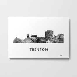 Trenton, New Jersey Skyline WB BW Metal Print