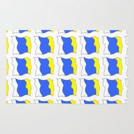 flag of canary islands-canaries,canary,atlantic,canarias,Canarian,canario,canaria,spain,spanish, Rug