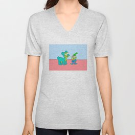 Elf picture from Lisa Simpson's bedroom Unisex V-Neck