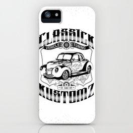 Hot Rod - Classick Kustomz (black) iPhone Case