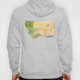 Montana Painted Map Hoody