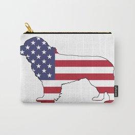 "Newfoundland Dog ""American Flag"" Carry-All Pouch"