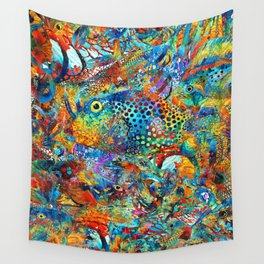 Tropical Beach Art - Under The Sea - Sharon Cummings Wall Tapestry