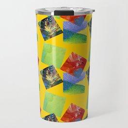 Painted Squares Jiggle - Yellow Travel Mug