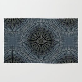 Dark Blue Mandala Rug