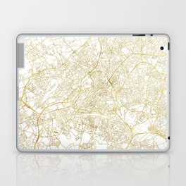 Lille Map Gold Laptop & iPad Skin