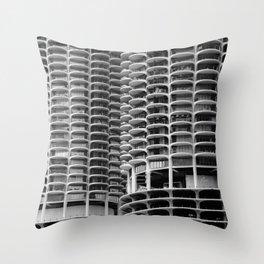 Chicago Marina City Throw Pillow