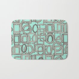 picture frames aplenty bone mint Bath Mat