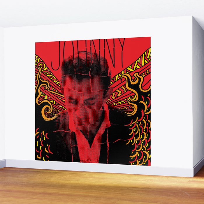 Wings of Fire Johnny Cash Wall Mural by mattcave | Society6