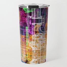 Grunge tech print Travel Mug