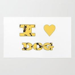 I LOVE DOG Rug