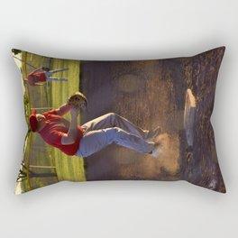 Baseball Action Rectangular Pillow