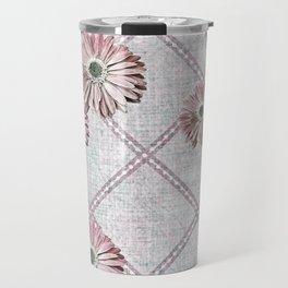 retro pink daisies Travel Mug