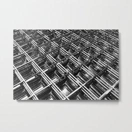 Rebar On Rebar - Industrial Abstract Metal Print