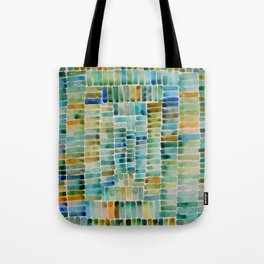 Watercolor abstract rectangles - orange and blue Tote Bag