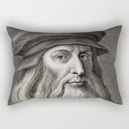 Leonardo da Vinci Rectangular Pillow