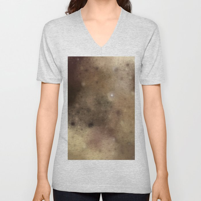 Surface of the moon ....  (A7 B0174) Unisex V-Neck