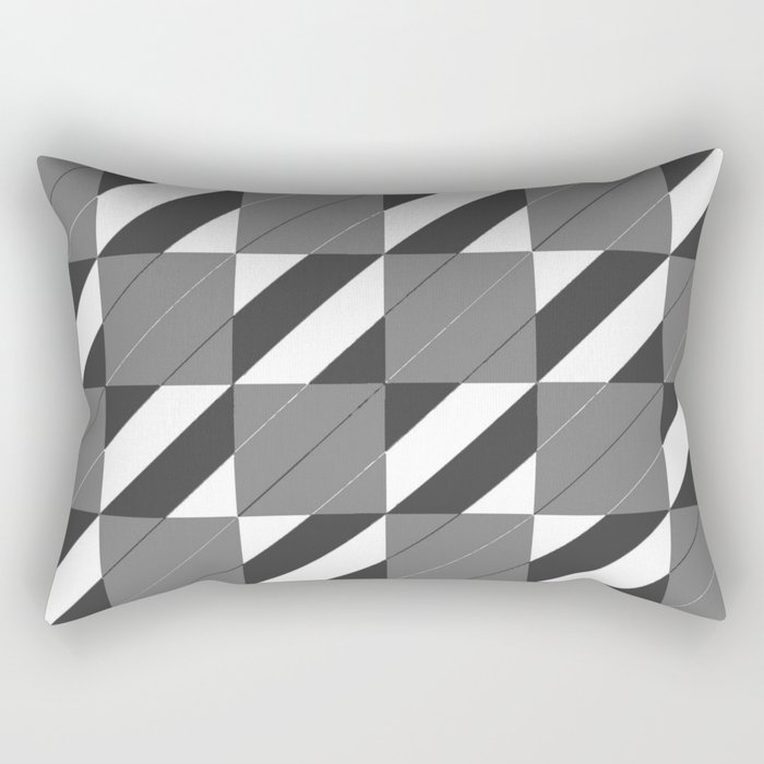 Checkers and Stripes Rectangular Pillow
