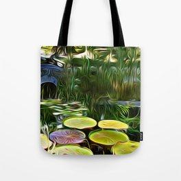 Greenery Pond Tote Bag