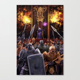 The Girl and the Robot - The Queen and her Army Canvas Print
