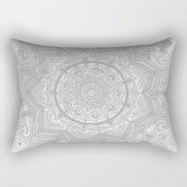 gray splash mandala swirl boho Rectangular Pillow