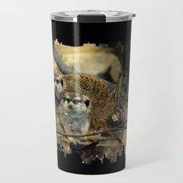 African Meerkat Trio Travel Mug