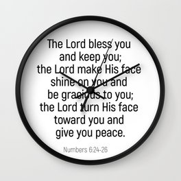 Numbers 6 24 #bibleverse #scriptures #blessing Wall Clock