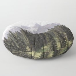 Mountain Wilderness - Nature Photography Floor Pillow