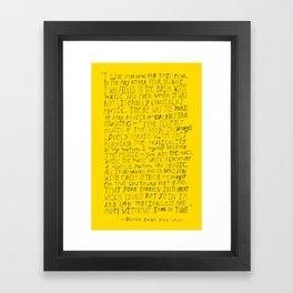 Remembering Oliver Sacks Framed Art Print