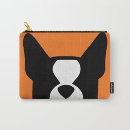 Boston Terrier - bold and moden in orange Carry-All Pouch