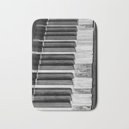 Black & White Piano Bath Mat