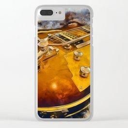 Electric Guitar Clear iPhone Case