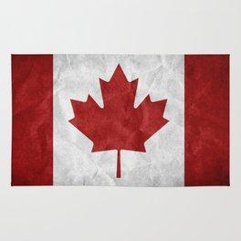 Canada Grunge Flag Rug