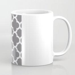 Gray Quatrefoil Coffee Mug