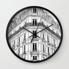 Parisian Facade Wall Clock