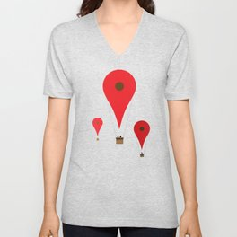 Google balloon Unisex V-Neck