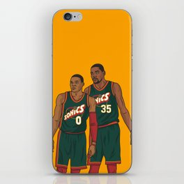 Westbrook and Durant - Retro Jersey iPhone Skin