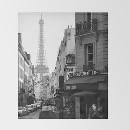 Paris Street Throw Blanket