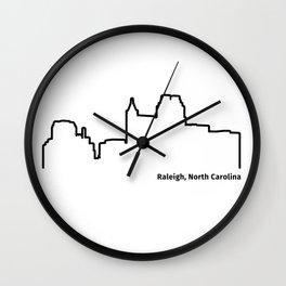 Raleigh, North Carolina Wall Clock