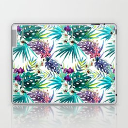 Blue Mystery Forest of Flowers and Tendrils Laptop & iPad Skin