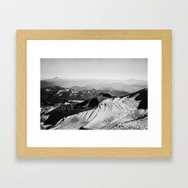 Black and White Mountain Scene Framed Art Print