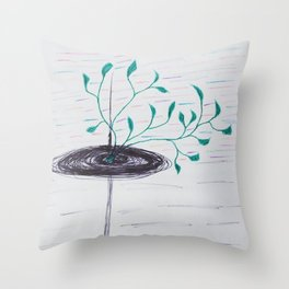 Life in a Black Hole Throw Pillow