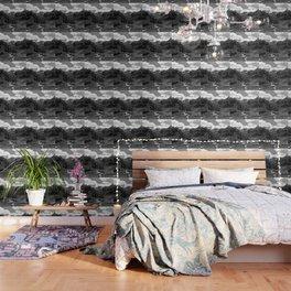 chairlift river kaunertal alps tyrol austria europe black white Wallpaper