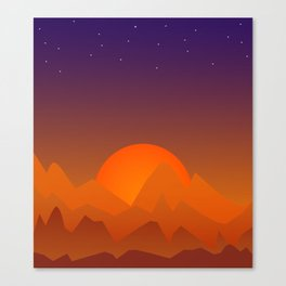 Slumbering Hills, Southwestern Landscape Art Canvas Print