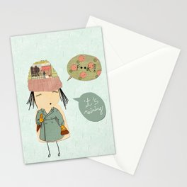 """""""I like London in the rain"""" Stationery Cards"""