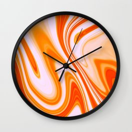 Abstract Fluid 14 Wall Clock