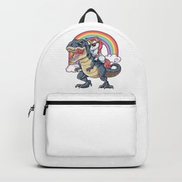 Unicorn Riding Dinosaur Backpack